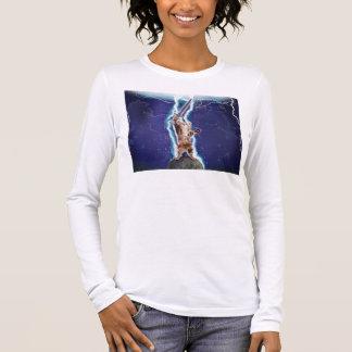 Blitz-Katze Langarm T-Shirt