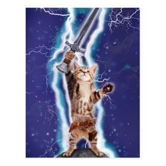 Blitz-Katze Postkarte