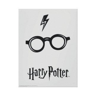 Blitz-Narbe und Gläser Harry Potter-Bann-| Leinwanddruck