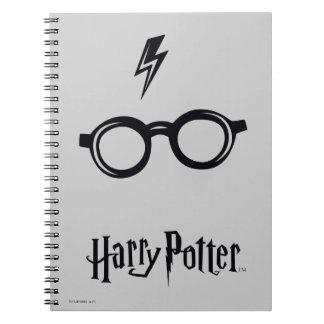 Blitz-Narbe und Gläser Harry Potter-Bann-| Spiral Notizblock