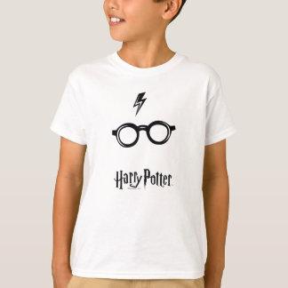 Blitz-Narbe und Gläser Harry Potter-Bann-| T-Shirt