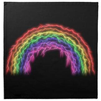 Blitz-Regenbogen Serviette