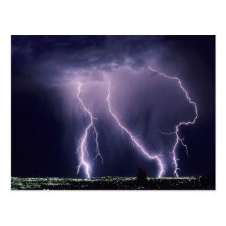Blitz über Salt Lake-Tal, Utah Postkarte