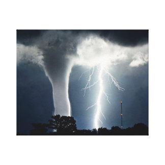 Blitz und Tornado eingewickelte Leinwand Gespannte Galerie Drucke