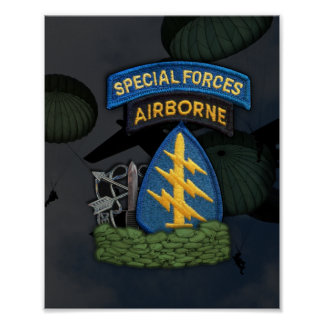 Blitzdruck sfg grüne Barette der besonderen Kräfte Poster