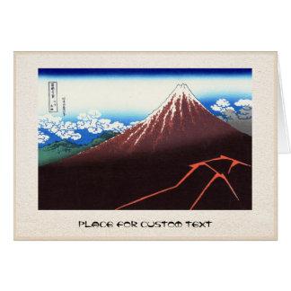 Blitze unter dem Gipfel Katsushika Hokusai Karte