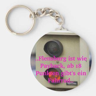 Blitzer, Punkte in Flensburg, Temposünder Standard Runder Schlüsselanhänger