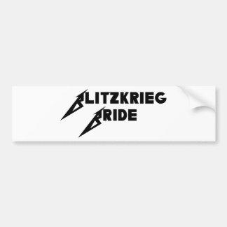 Blitzkrieg-Braut Autoaufkleber