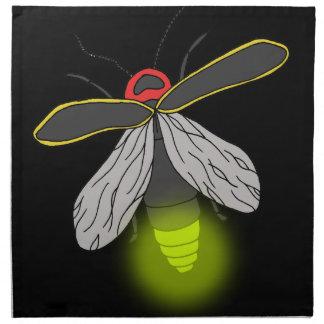 Blitzwanzenflug beleuchtet stoffserviette