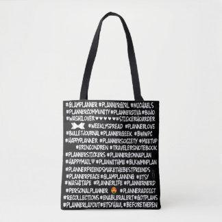 #BLKWMNPLAN Hashtag Planer-Taschen-Tasche Tasche