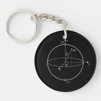 Bloch Bereich   Quantum biss (Qubit) Physik/Mathe Schlüsselanhänger
