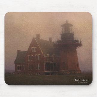 Block-Insel-Leuchtturm Mousepad