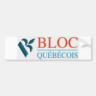 Block Québécois Logo Autoaufkleber