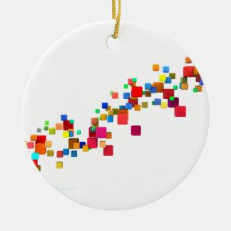 Blockchain Technologie als kreatives Geschäft Keramik Ornament