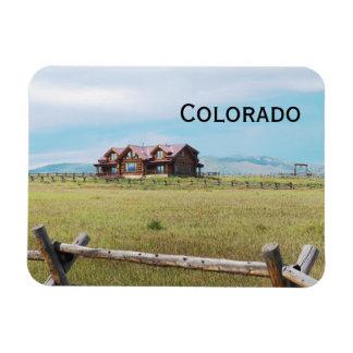 Blockhaus in Colorado Magnet