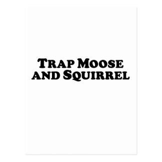 Blockierelche und Eichhörnchen - Mischkleidung Postkarte