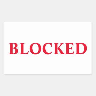 Blockierter Aufkleber