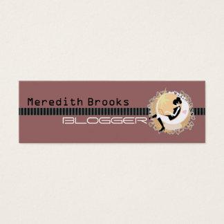 Blogger-Visitenkarte Mini-Visitenkarten