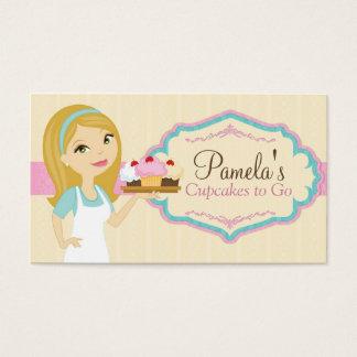 Blonde Bäcker-Kuchen-Visitenkarten D13 Visitenkarte