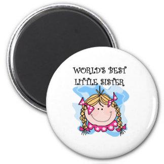 Blonde beste kleine Schwester Runder Magnet 5,7 Cm