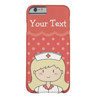 Blonde Cartoon-Krankenschwester mit dem Barely There iPhone 6 Hülle