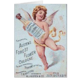 Blonde Engels-Köln-Anzeige Karte