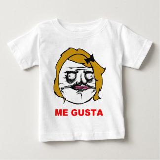 Blonde Frau ich Gusta Comic-Raserei-Gesicht Meme Baby T-shirt