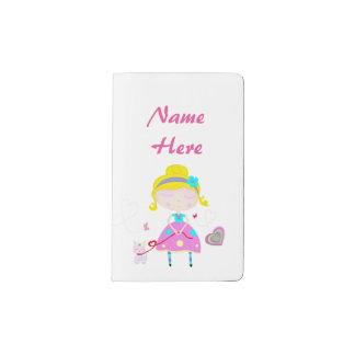 Blonde Mädchenillustration Moleskine Taschennotizbuch
