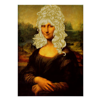 Blonde Mona Lisa Poster