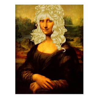 Blonde Mona Lisa Postkarten