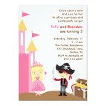 Blonde Prinzessin-und Piraten-Einladung
