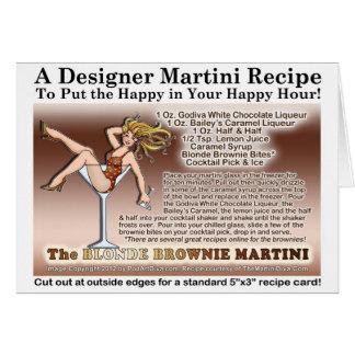 Blonde Schokoladenkuchen-Martini-Rezept-Karte Karte