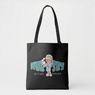 Blonde weibliche Krankenschwesterentwurf Tasche