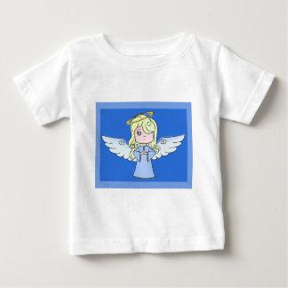 Blonder Cartoon-Engel Baby T-shirt
