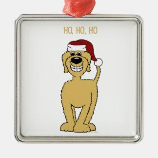 blonder Doodle Santa Silbernes Ornament