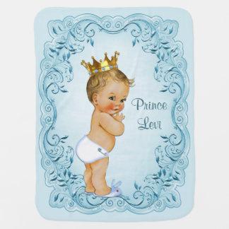 Blonder Prinz Blue Leaves Personalized Baby-Decken