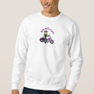 Blonder Radfahrer Sweatshirt