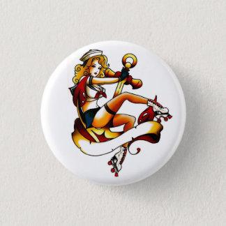 Blonder Rollen-Mädchen-Seemann Runder Button 3,2 Cm