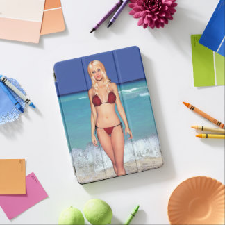Blondes Bikini-Strand-Baby iPad Air Hülle