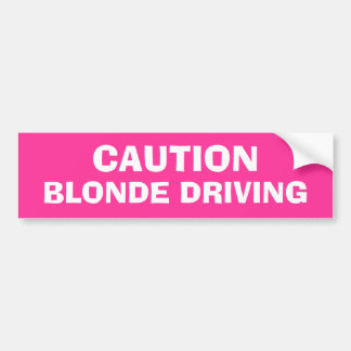 Blondes Fahren Auto Aufkleber