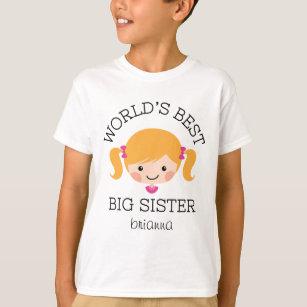 Blondes Haar der Weltbestes großen Schwester T-Shirt