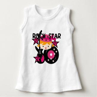 Blondes Rockstar-Mädchen-Baby-Sleeveless Kleid