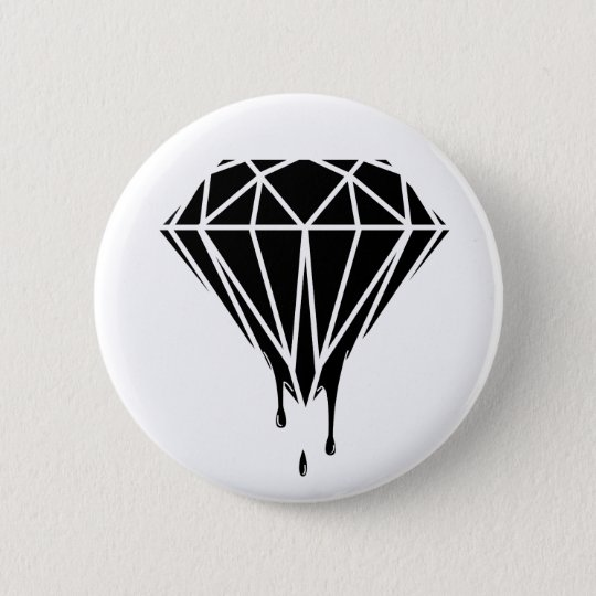Blood Diamond Runder Button 5,7 Cm