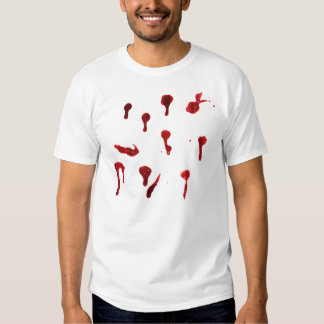 Blood splats shirts