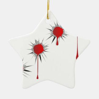 Blooded Einschusslöcher Keramik Stern-Ornament