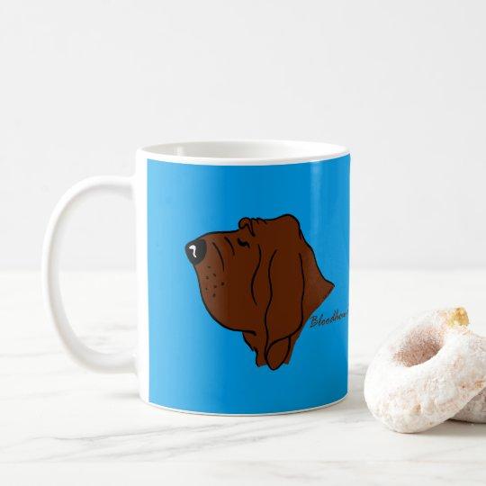 Bloodhound Kopf Silhouette Kaffeetasse