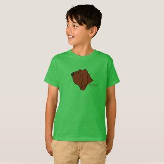 Bloodhound Kopf Silhouette T-Shirt