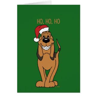 Bloodhound Santa Karte