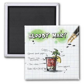 Bloody Mary Quadratischer Magnet