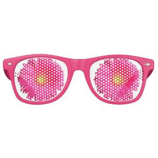 Bloomy rosa Blume - Sonnenbrille-Party-Schatten Partybrille
